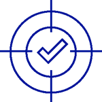 Icon predictability target check mark